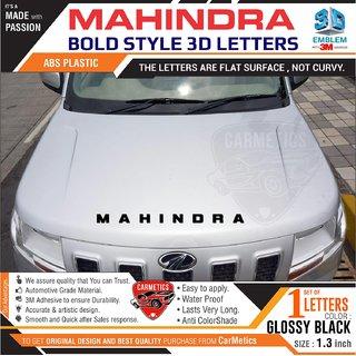 MAHINDRA 3d Letters for Mahindra TUV 300 - Glossy Black - CarMetics