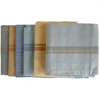 COTTON HANKIES (Multicolour)-(Pack Of - 3)