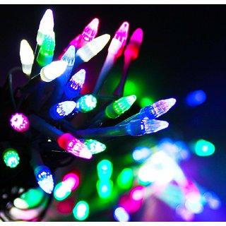 SILVOSWAN Rocket Shaped Led Ladi Diwali Light (Multicolor 30 Meter)