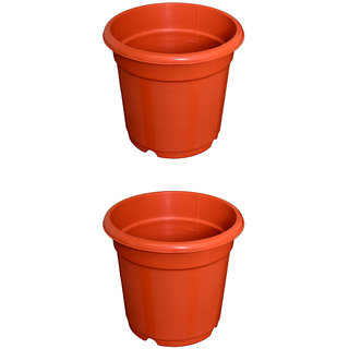 Flower Pots 8 inch Set of 2, Plant Container ( External Height - 20 cm)