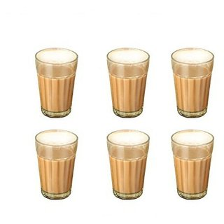 Being Creative Multipurpose Party Designer  Clear Set of 6 Tea Glass