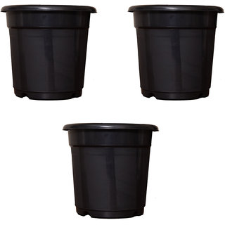 Flower Pots 8 inch Set of 3, Plant Container ( External Height - 20 cm)
