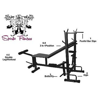 SPORTO Fitness 8 in 1 Home Gym Exercise Bench Press