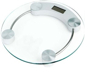 Round Digital LCD Tempered Glass Bathroom Stylish Body Weight Watchers Scale 180kg  Multi Color