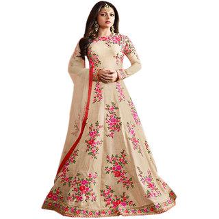 Aryan Fashion Store Womens Blue Semi Stitched Salwar Suit