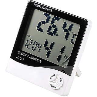 Futaba Large LCD Screen Hygrometer Thermometer Alarm Clock Calendar