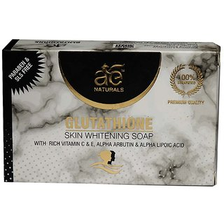 AE NATURALS  Skin Whitening Soap With Active Charcoal And Kojic Acid 1 X 75g