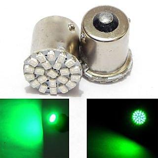 Car Bike Turn Indicator GREEN Bulb 22 SMD LED, Front / Back Indicator, Reverse 4pcs