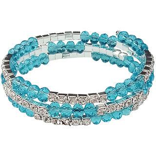 JewelMaze Blue Crystal Austrian Stone Bracelet-1401428E