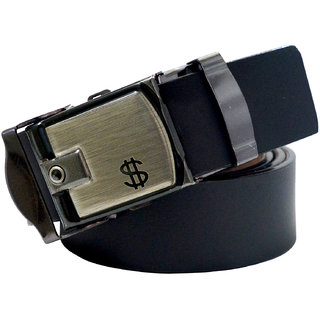 Sunshopping Black Leatherite Belt For Men (Synthetic leather/Rexine)