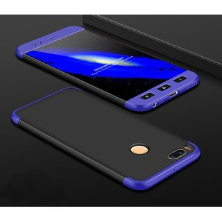3 in 1 360 Full Body Slim Fit Protection Hybrid Hard Back Cover for Xiaomi Mi A1 - Blue