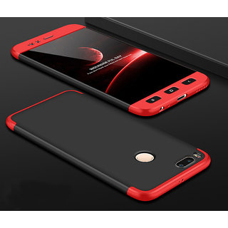 3 in 1 360 Full Body Slim Fit Protection Hybrid Hard Back Cover for Xiaomi Mi A1 - Red