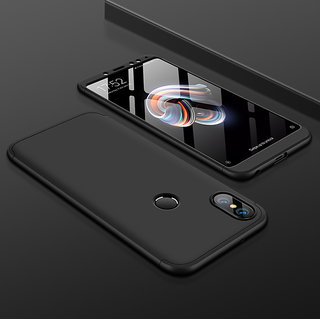 3 in 1 360 Full Body Slim Fit Protection Hybrid Hard Back Cover for Xiaomi Mi A2 - Black