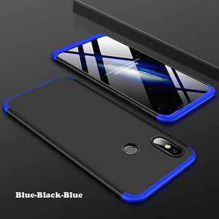 3 in 1 360 Full Body Slim Fit Protection Hybrid Hard Back Cover for Xiaomi Mi A2 - Blue