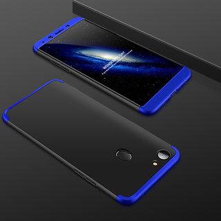 wholesale dealer e0459 263e8 3 in 1 360 Full Body Slim Fit Protection Hybrid Hard Back Cover for Oppo F5  - Blue