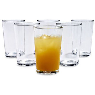 Being Creative Multipurpose Party Designer  Clear Set of 6 Juice Glass