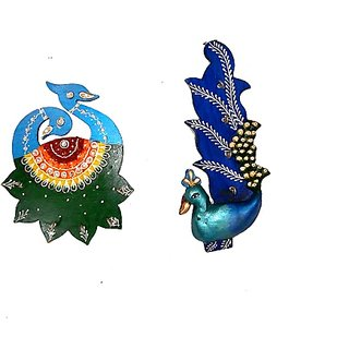 Beautiful Handmade Set of 2 Peacock shaped Key Holder