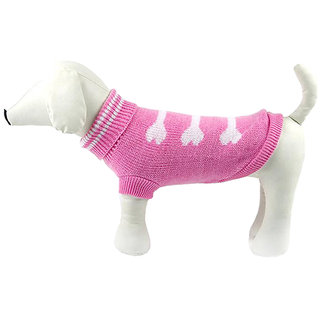 Futaba Dog Bone Style Dog Sweater - Pink - XL
