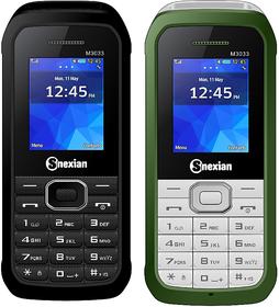 Snexian M3033  Combo Of Two Mobiles  (Green , Black)Dua