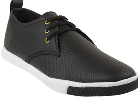Marcella Men's Synthetic Casual Sneakers Black Size-7
