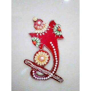 Beautiful Attractive Handmade Clay Art Ganesh Ji shape Key Chain Holder