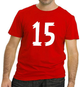 HEYUZE Lucky Number Fifteen 15 Red Printed Men T-Shirts