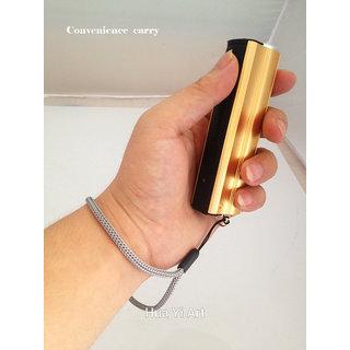 USB charging led multi functional flashlight USB phone charging mobile power supply golden SHELL -TARGET PLUS
