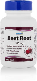 Healthvit Beet Root 500 Mg 60 Capsules For Immunity Boo - 139933767