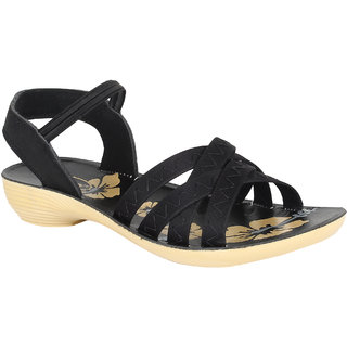 Armado Women/Girls Black Sandals