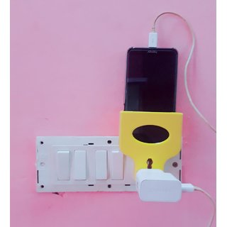 Mobile Charger Stand or Holder attached to wall charger plug