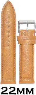 Kolet 22mm Textured Leather Watch StrapBand (Tan)