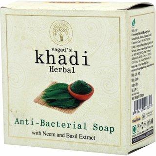 Vagad's Khadi Neem And Basil Extract Anti-Bacterial Milky Soap