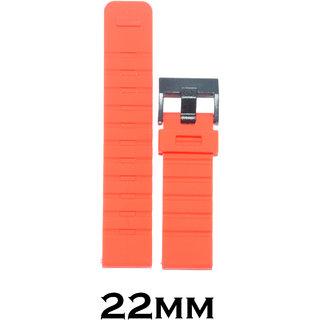 Kolet 22mm Silicone Watch Strap (Red)
