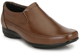DERBY KICKS COMFORTABLE BROWN FORMAL SHOES FOR MEN OFFI