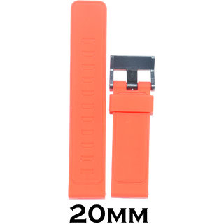Kolet 20mm Silicone Watch Strap (Red)