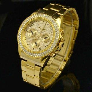 idivas 23Letest PAIDU  Gold Diamond Watch For Men