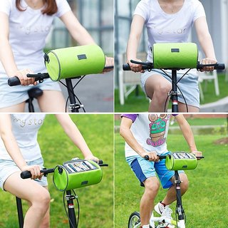 BANQLYN Bicycle Bag Bike Frame Bag Waterproof Handlebar Bag with Phone Transparent Pouch for Riding and Outdoor Also Can Be Sh
