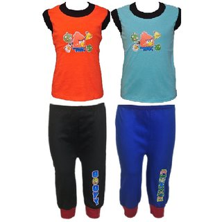 eb54c020757 Buy Pari Prince Multicolour Kids Cotton CUP pant with SLEEVELESS TEES (Pack  of -2) Online - Get 33% Off