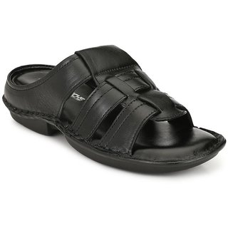 DERBY KICKS GENUINE LEATHER BLACK COMFORTABLE STYLISH  SANDALS FOR MEN  DAILY WEAR, CASUAL WEAR