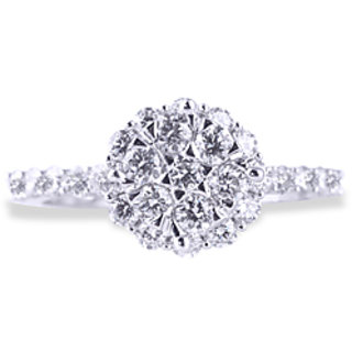 Diamond Designer Ring With White
