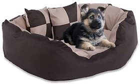 Moodmax Ultra Soft Highly Durable ( Rectangular ) Velvet Sofa-Style Bed For Dogs And Cats