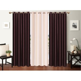 Myru International Polyester Window Curtain 152cm(5ft) Pack of 3