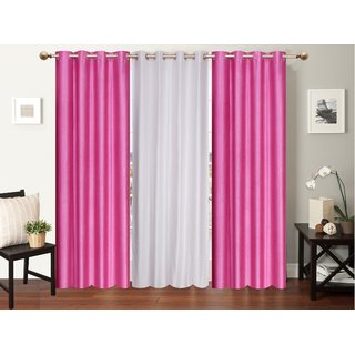 Myru International Polyester Long door Curtain 274cm(9ft) Pack of 3