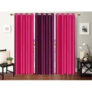 Myru International Polyester Window Curtain 152cm(5ft) Pack of 3