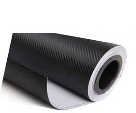12x24 3D Black Carbon Fiber Vinyl Car Wrap Sheet Roll Film Sticker Decal