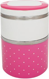 GPSales - Stainless Steel Insulated Colourful lunch box for Office with Two layer