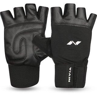 Nivia Gym Fitness Gloves (L Black)