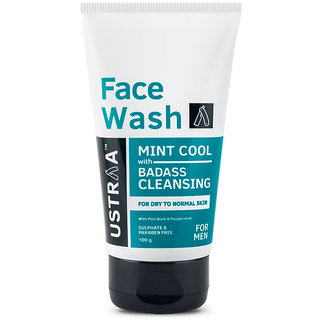 Ustraa Face Wash - Dry Skin (Mint Cool) - 100gm