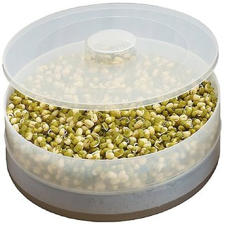 Hygienic Sprout Maker with Two Compartments For Multi Purpose Use