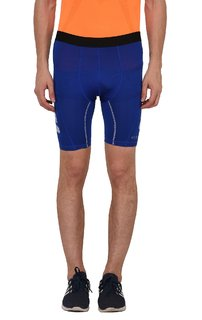 Finity Men's Polyester Blue Color Compression Gym Shorts